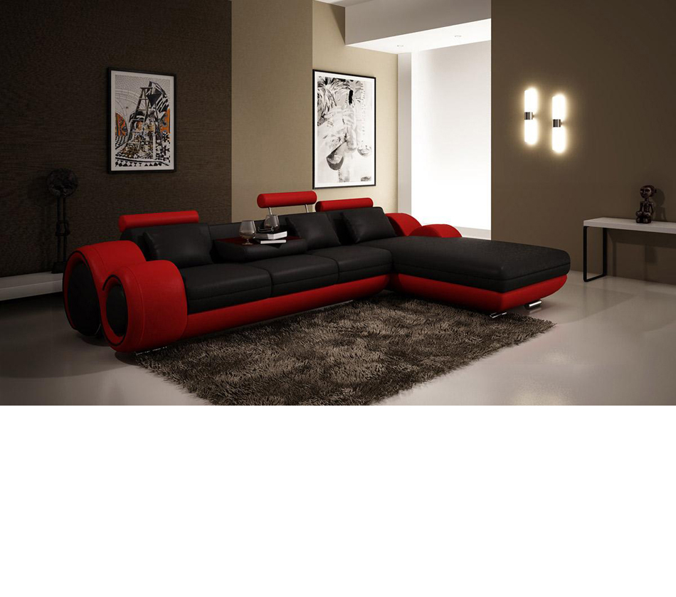 4085 Modern Leather Sectional Sofa