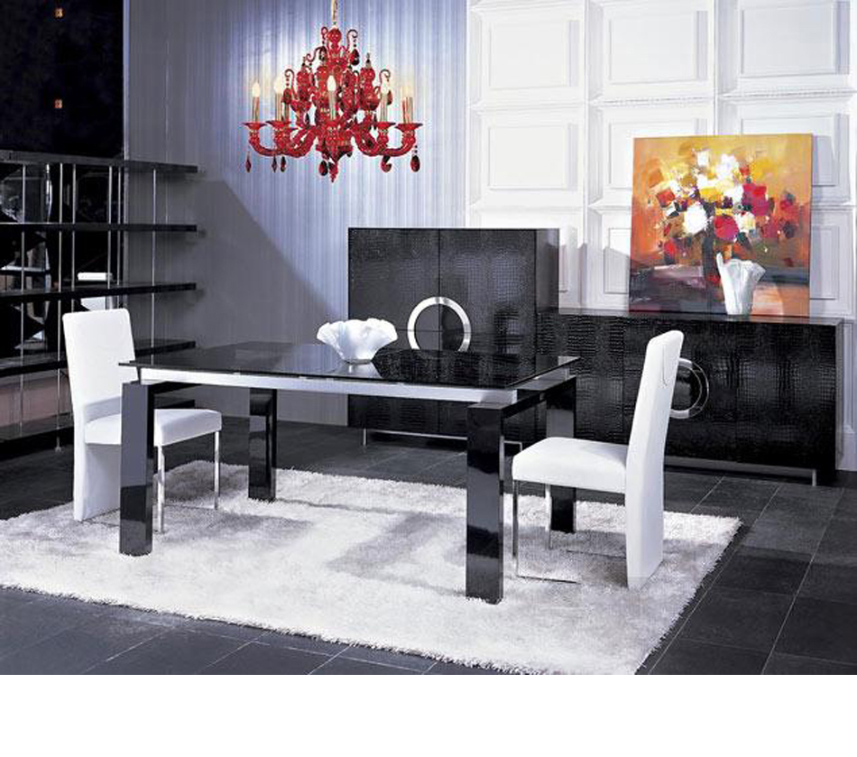 Dreamfurniture Com Armani Butterfly Extensional Dining