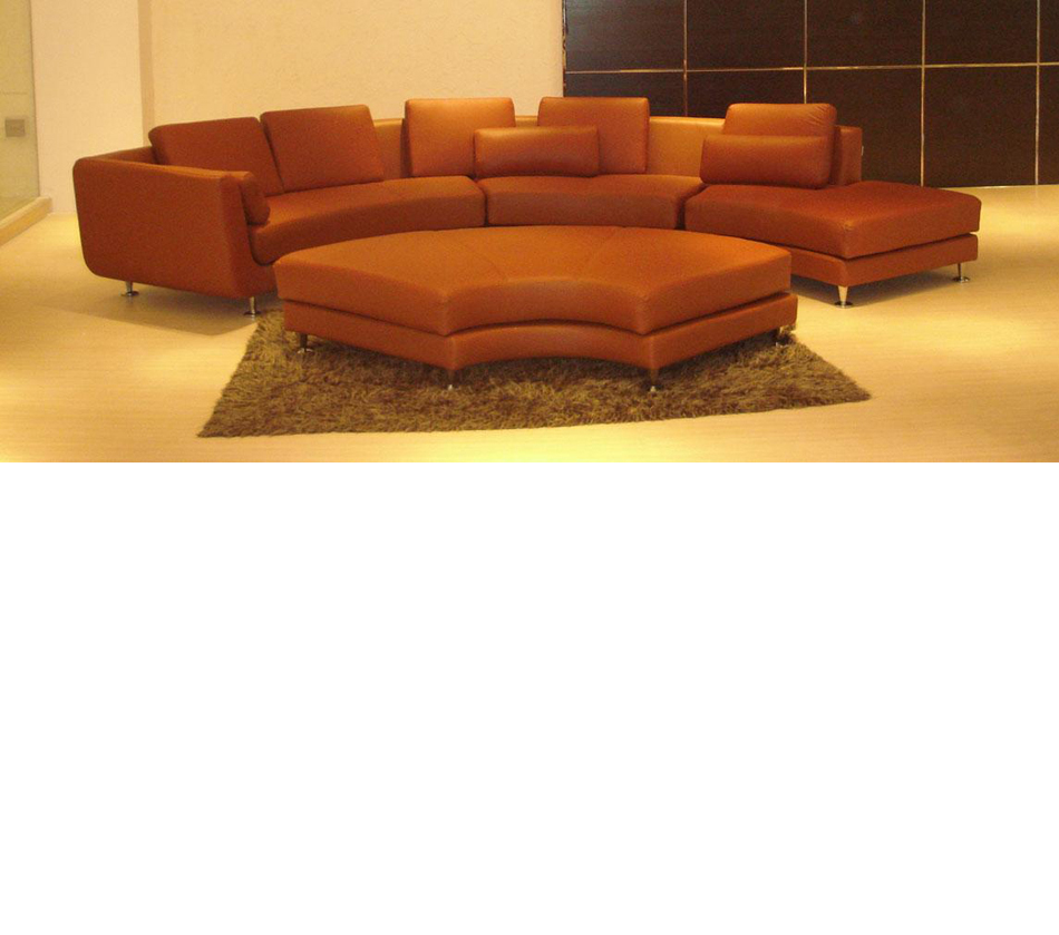 Divani casa a94 contemporary brown for Sofa ottomane