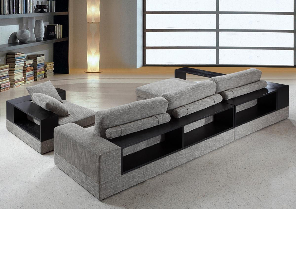 Contemporary fabric sectional sofas baxton studio adelaide for Modern sectional sofas