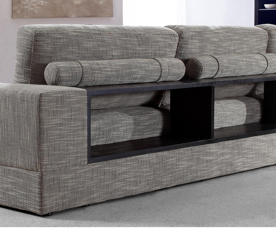 divani casa anthem modern fabric sectional sofa chaise. Black Bedroom Furniture Sets. Home Design Ideas