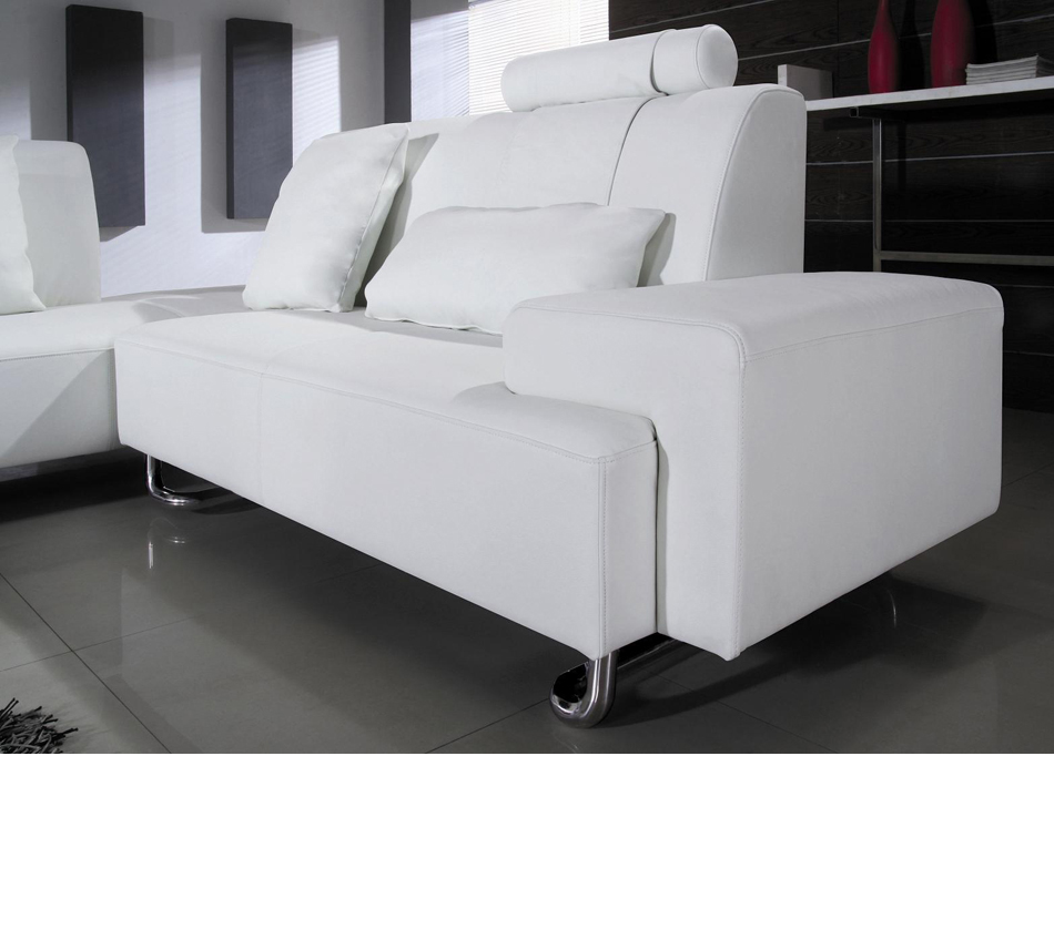 Dreamfurniture Com Madrid Modern White Leather Sectional