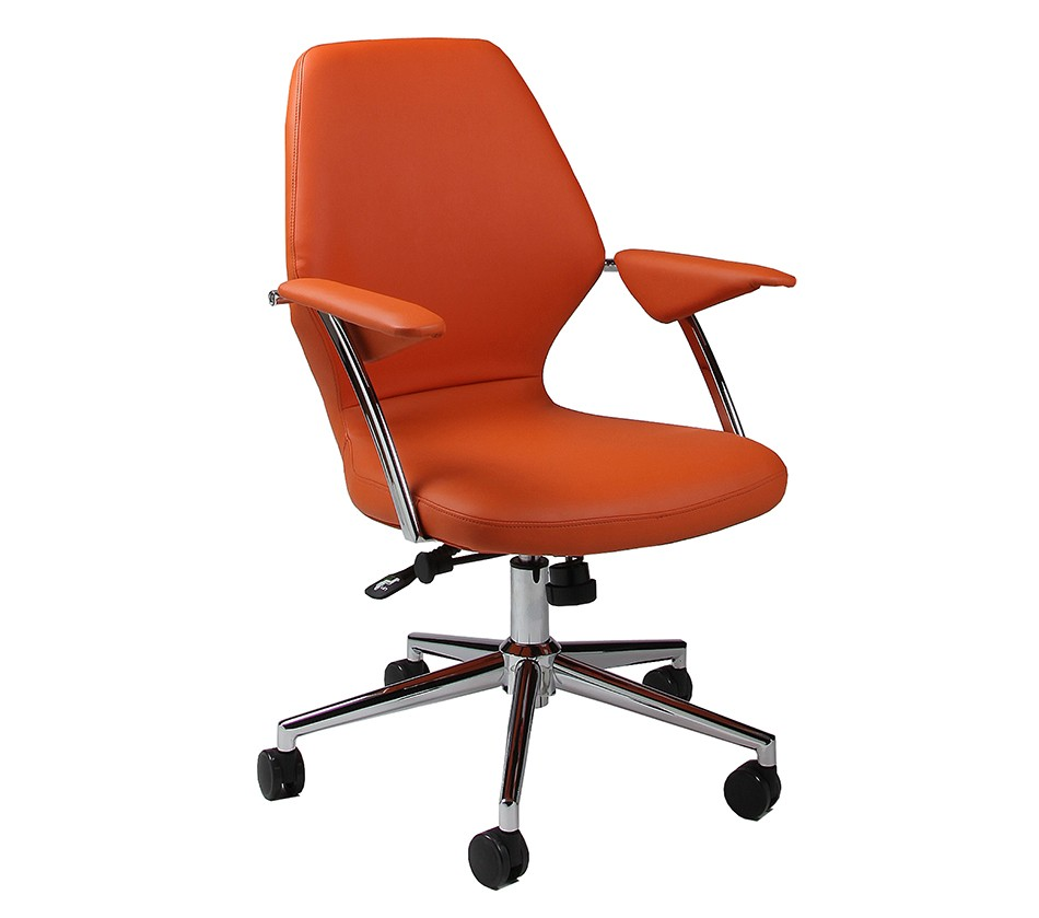 Dreamfurniture Com Ibanez Office Chair In Chrome