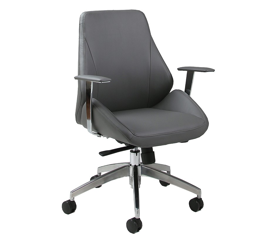 DreamFurniture.com - Isobella Office Chair in chrome ...