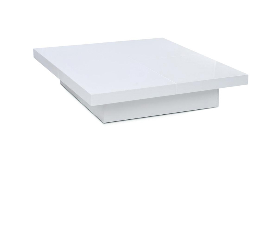 1005C - Modern White Lacquer Coffee Table