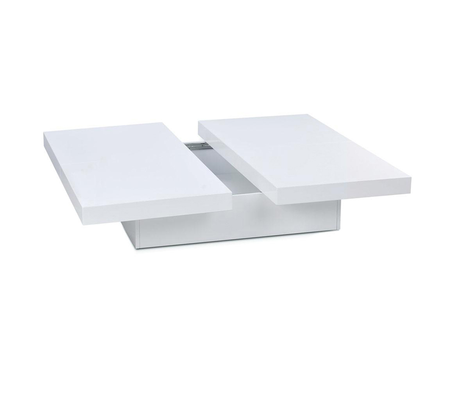 Coffee Accent Tables 1005C Modern White Lacquer Coffee