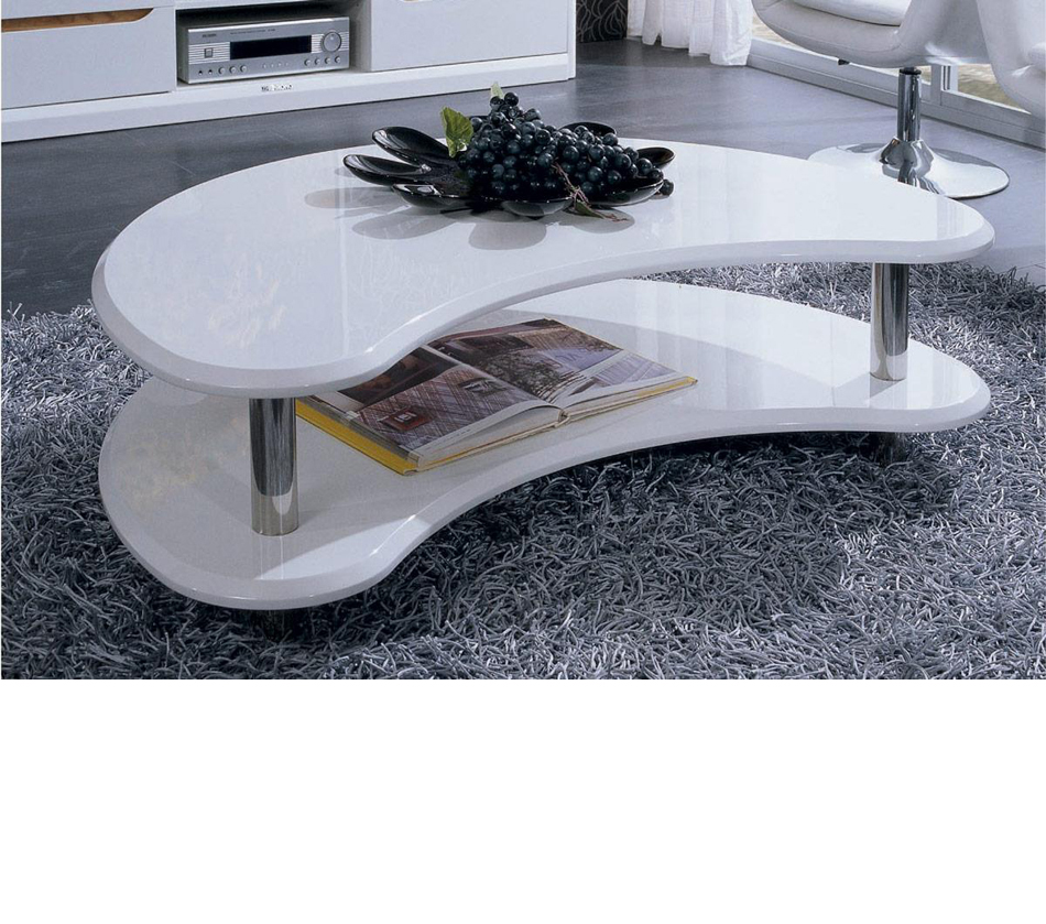 Coffee Accent Tables 201171 Modern White Lacquer Coffee Table