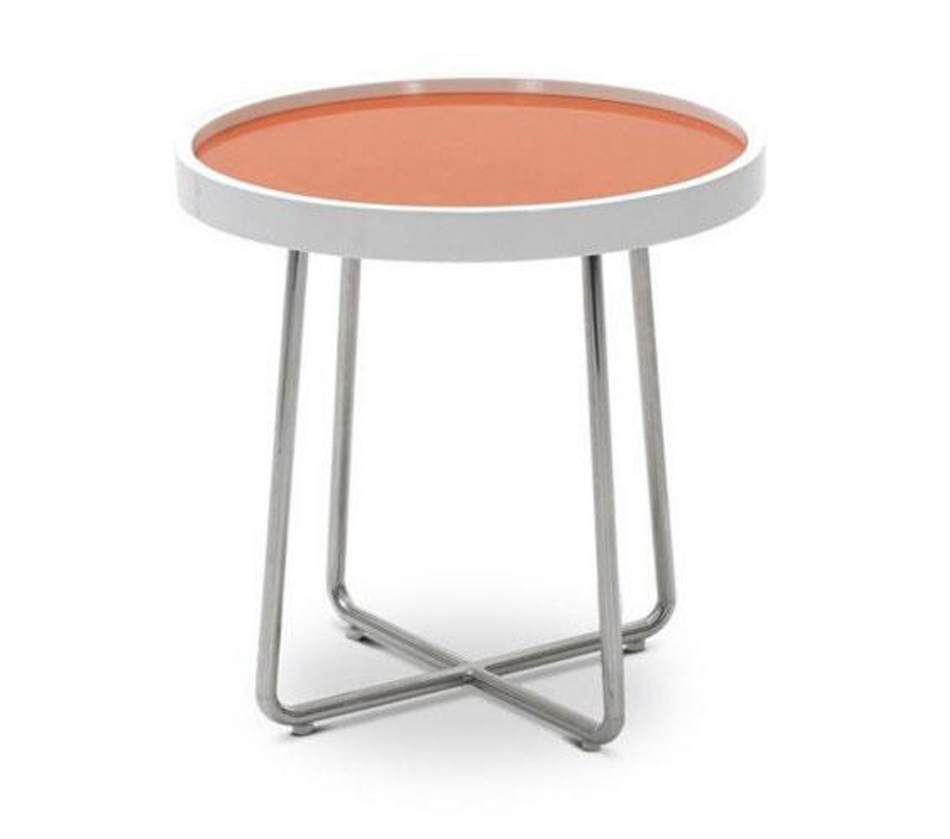 213B Modern Orange End Table
