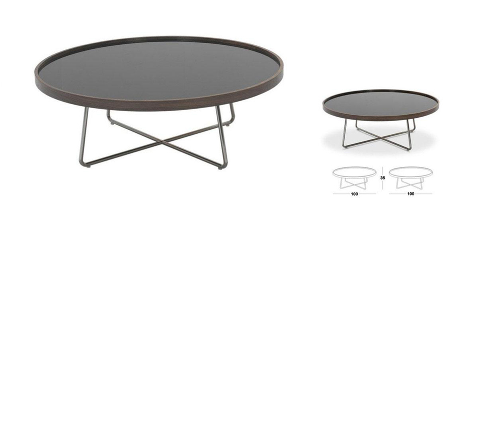 226e Modern Brown Black Coffee Table