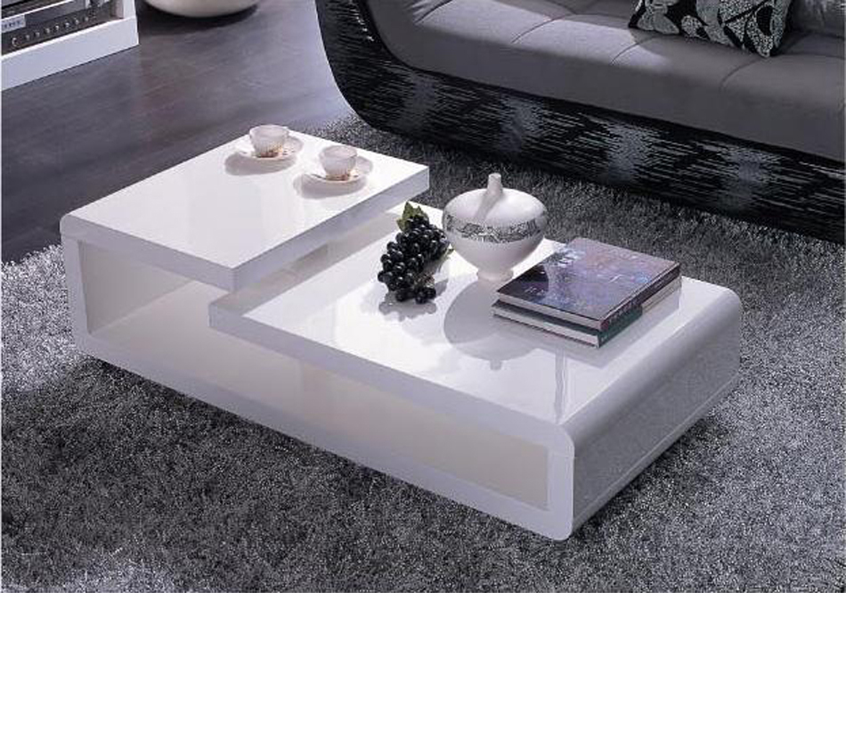 5011c Modern White Lacquer Coffee Table