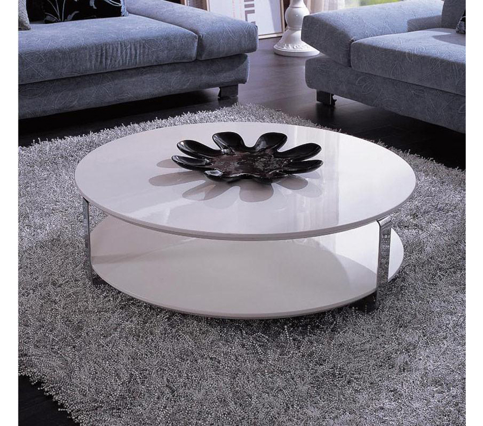 Furniture Coffee Accent Tables 5015C Modern White Coffe