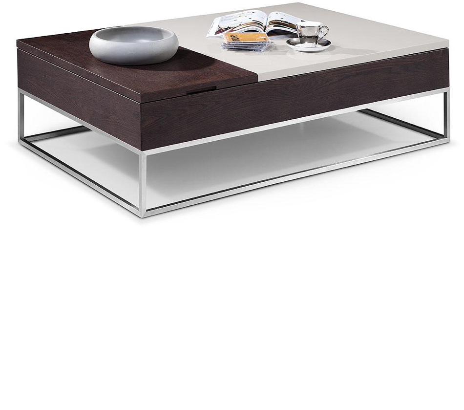 Modern Coffee Table Brown: Modern Brown Oak Coffee Table