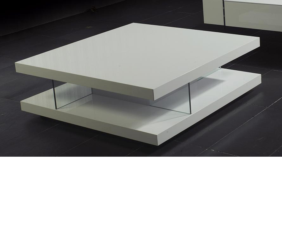 Annika White Gloss Coffee Table: White High Gloss Coffee Table