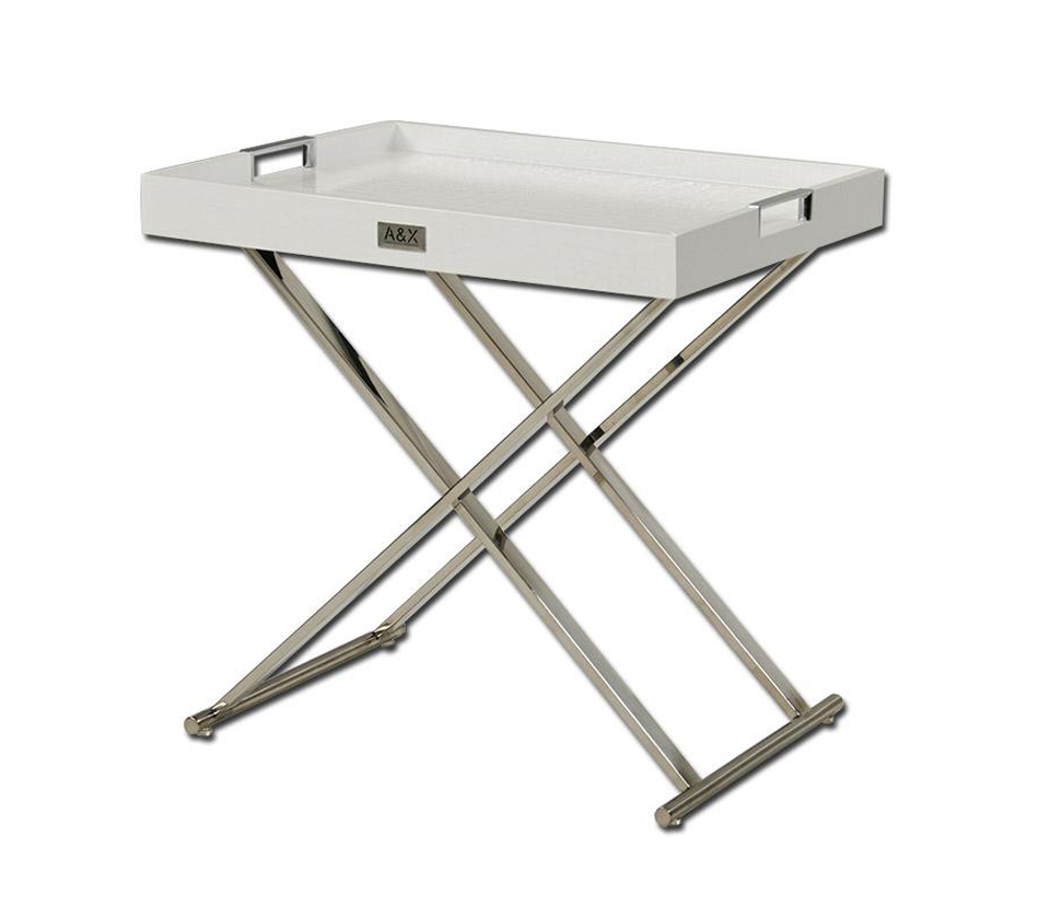 Ax White Tray Table