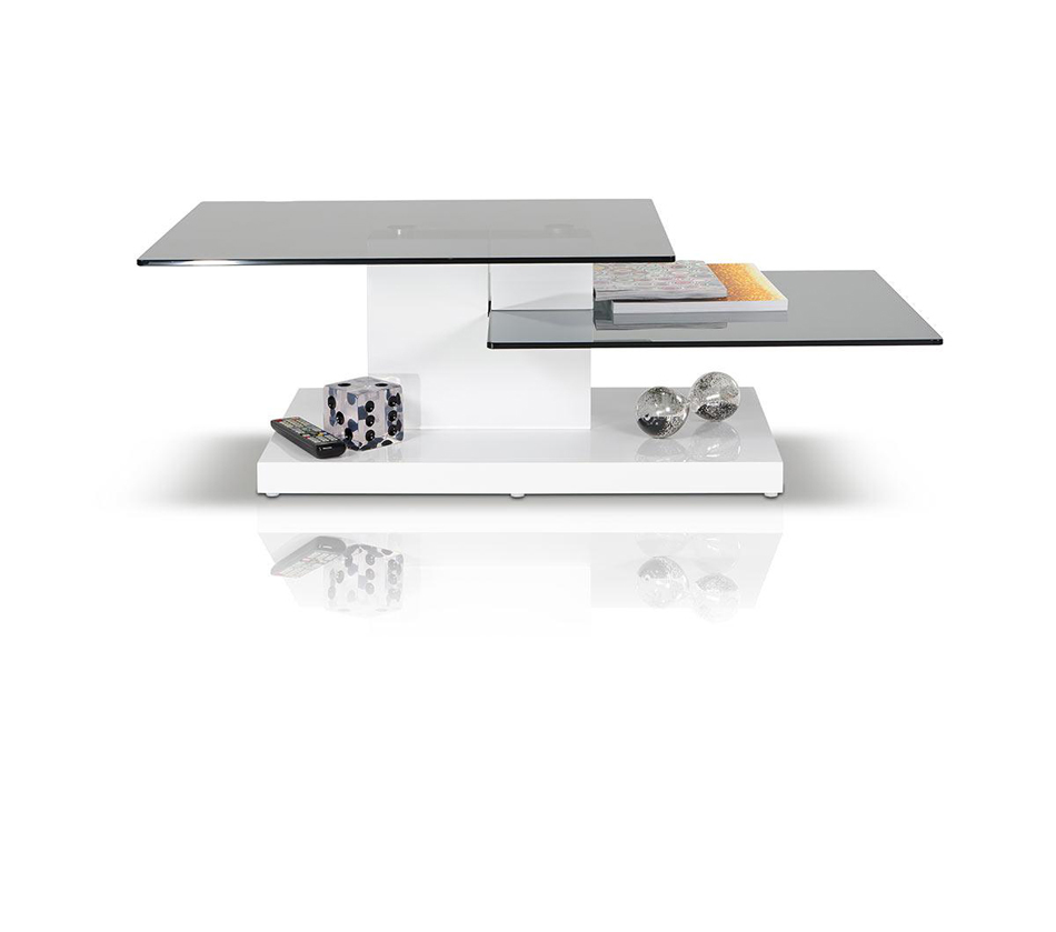 Coffee Accent Tables B153A Contemporary White High Gloss Coffee