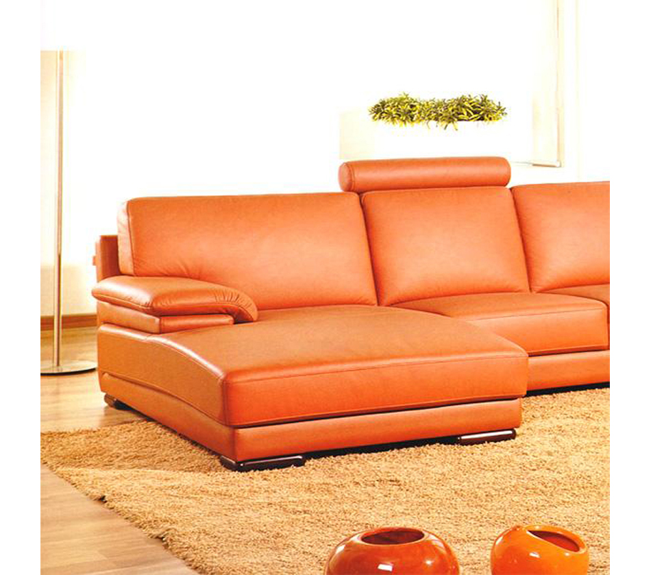 Cheap U Shaped Sofa Low Cost Modern Corner Leather Sofa: DreamFurniture.com