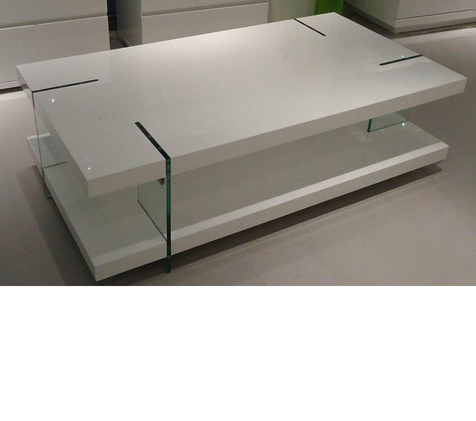 Ma Ti Modern White Lacquered Coffee Table