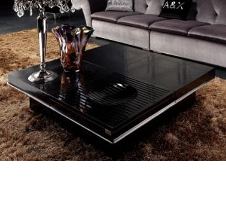 - DreamFurniture.com - Modern Coffee Table With Pull Out Squares