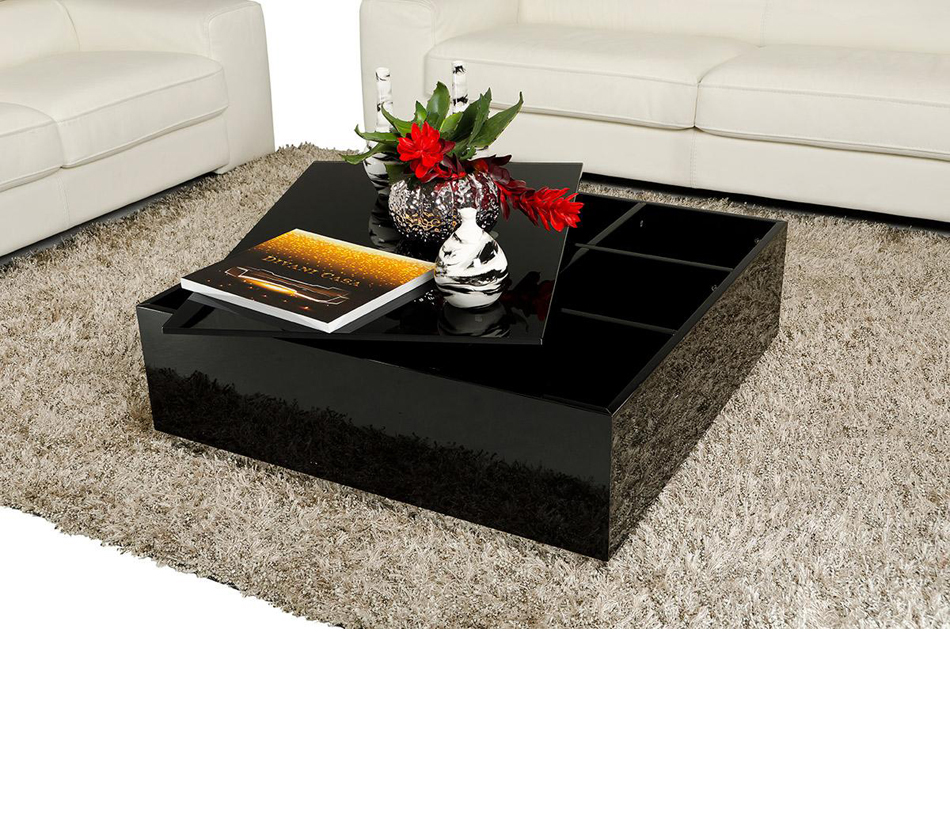 Modern coffee table with storage 857ct Contemporary coffee tables with storage