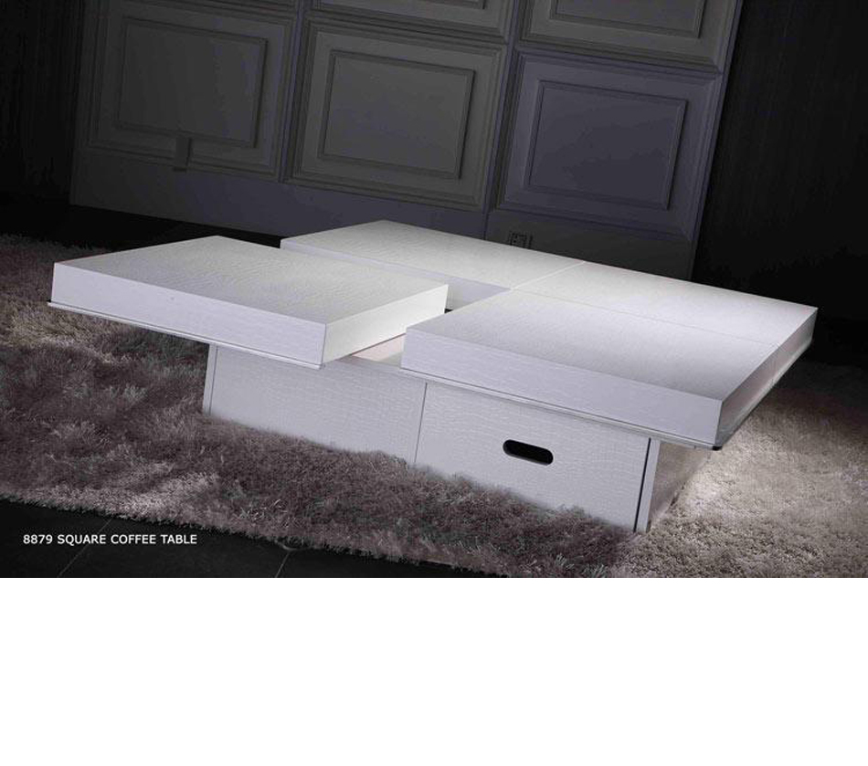 8879A   Modern High Gloss White Coffee Table
