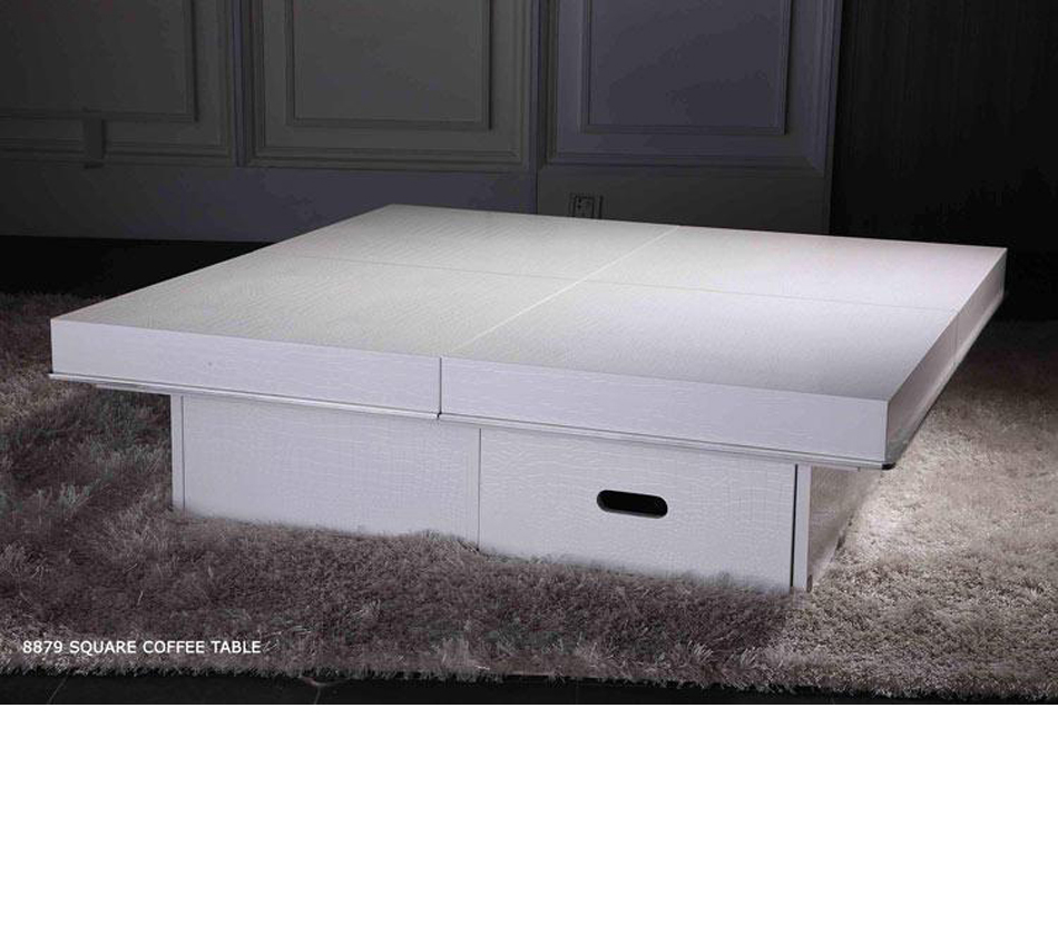 Modern Crocodile White Coffee Table 8879a