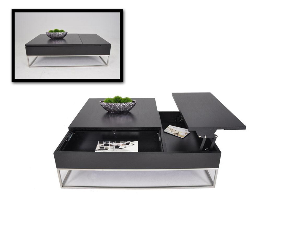 P209a Modern Black Coffee Table