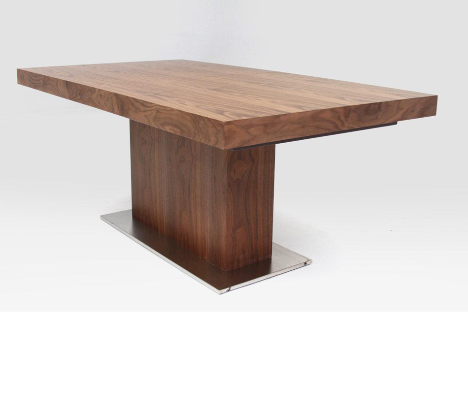 Zenith modern walnut extendable for Best extendable dining table