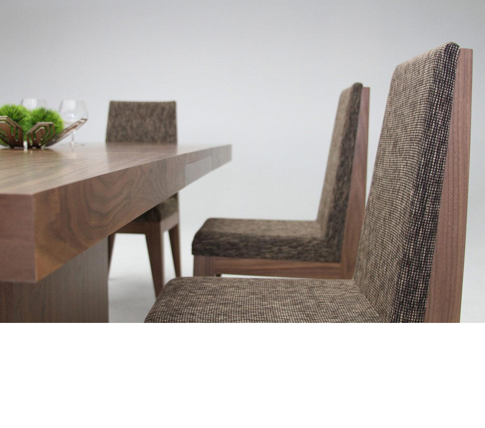 dreamfurniture - zenith - modern walnut extendable dining table
