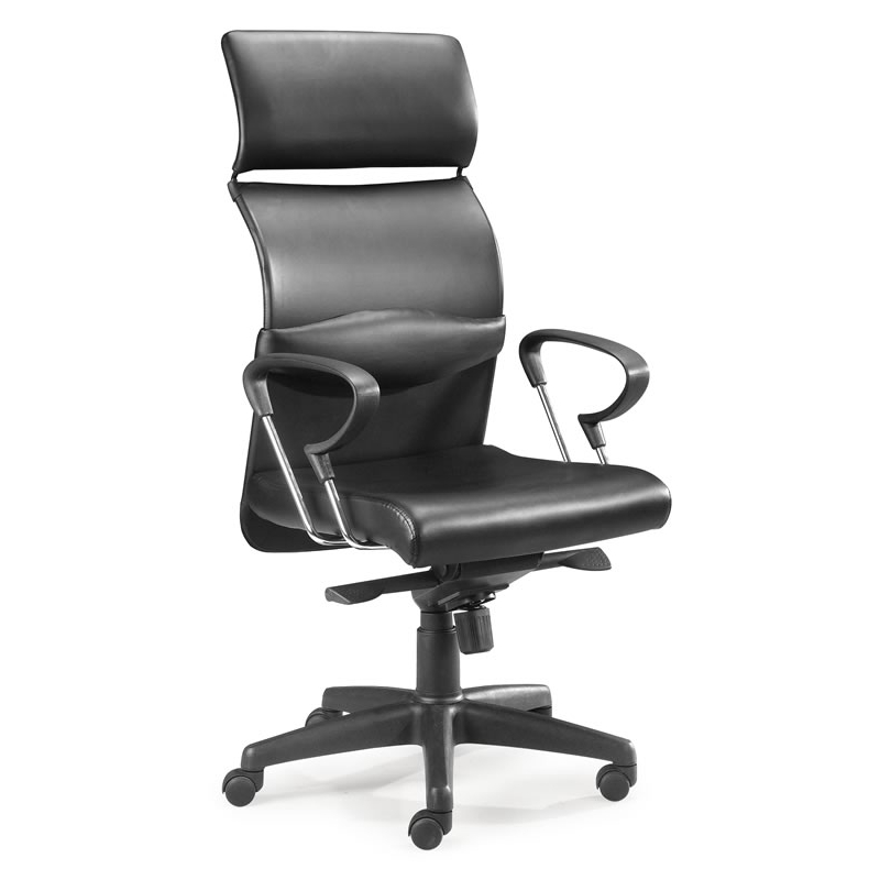 eco pu office chair black