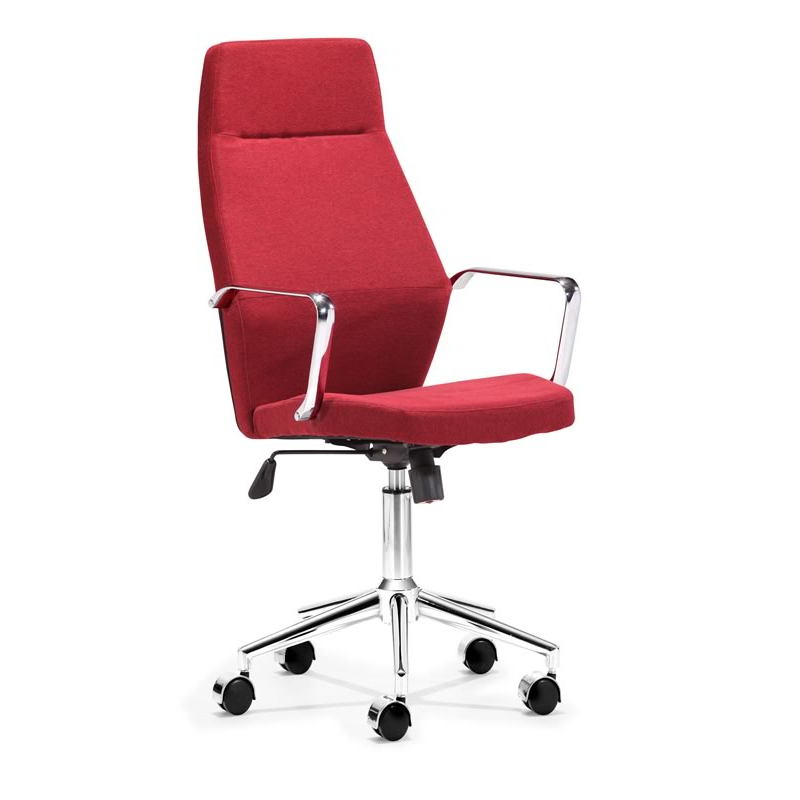 holt high back office chair red