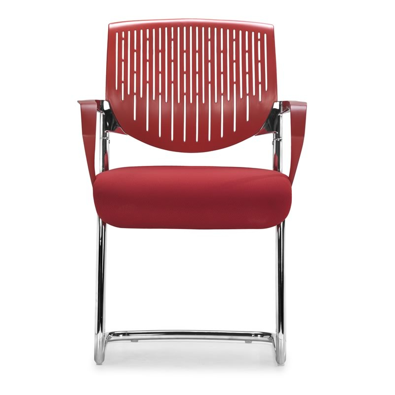 Synergy Sled Conference Chair Red