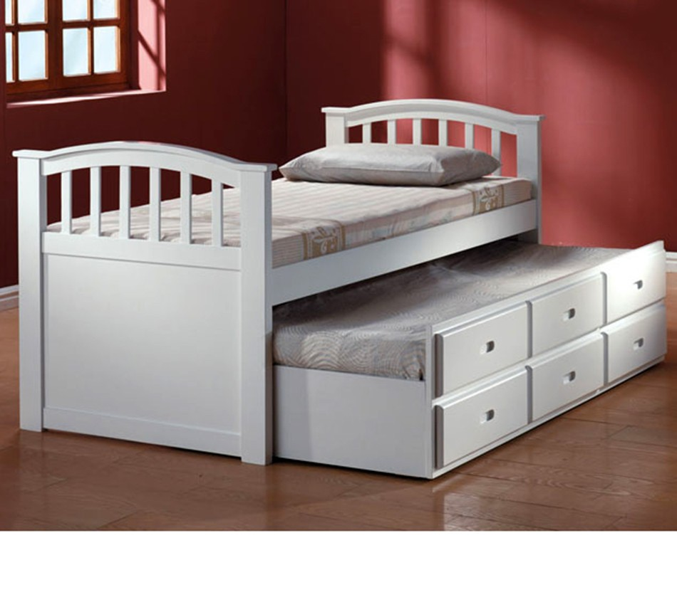 San Marino White Finish Bed With