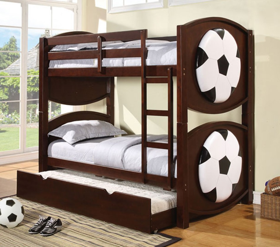 All star soccer espresso finish twin - All in one double bed ...