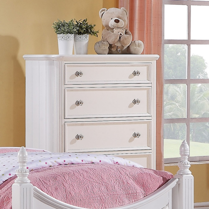 Najarian Nba Youth Bedroom In A Box: Athena White Finish Chest Of Drawers