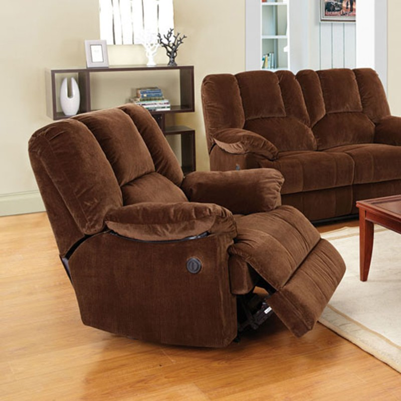 50222 obert power motion brown for Brown corduroy couch