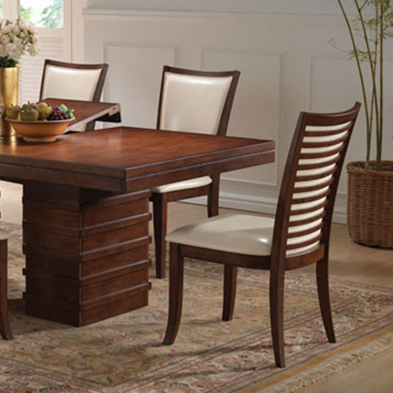 Andrea Cherry Finish Formal Dining Room Table Set: Pacifica Cherry Finish Dining Table Set