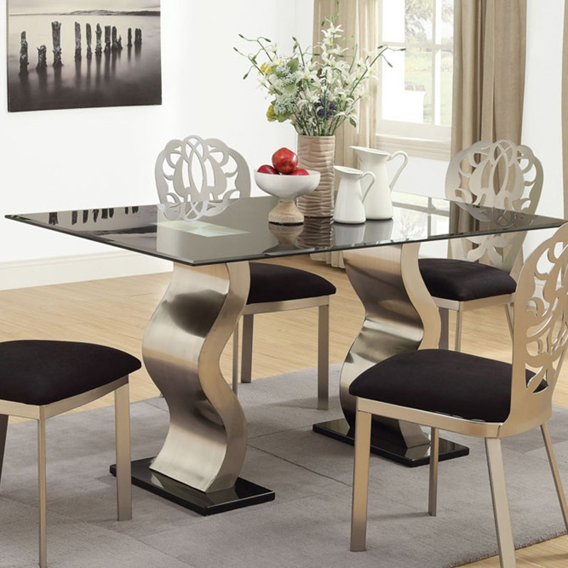 Dining Table Black Finish Dining Table