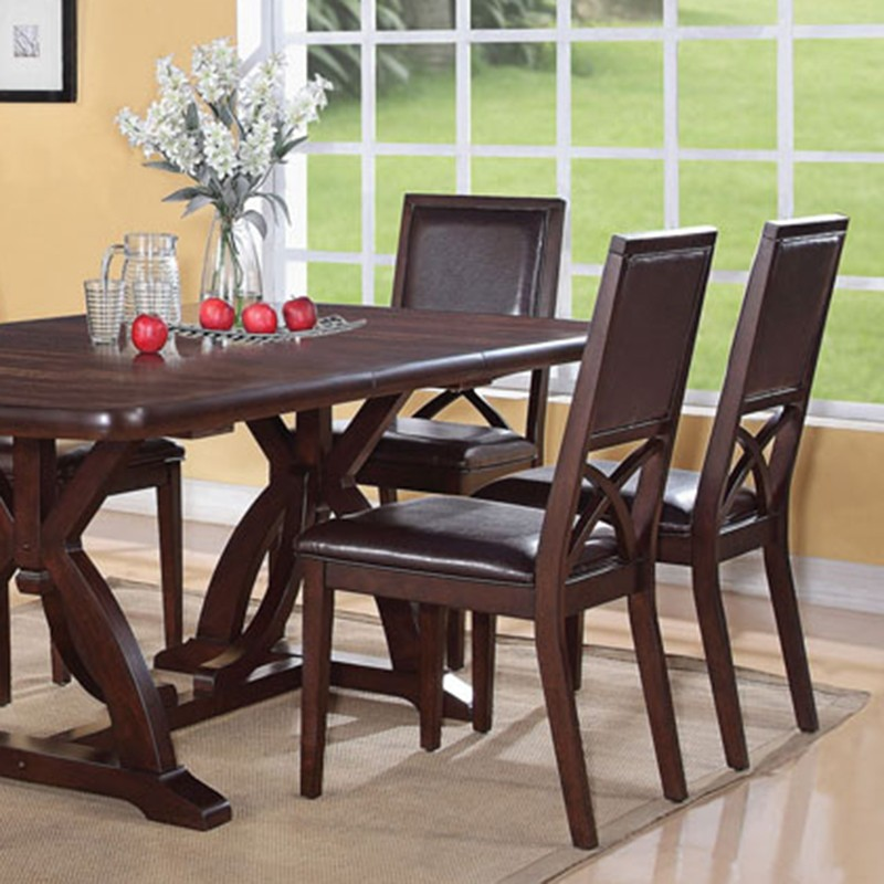 Dreamfurniture Com Inez Espresso Finish Dining Table Set
