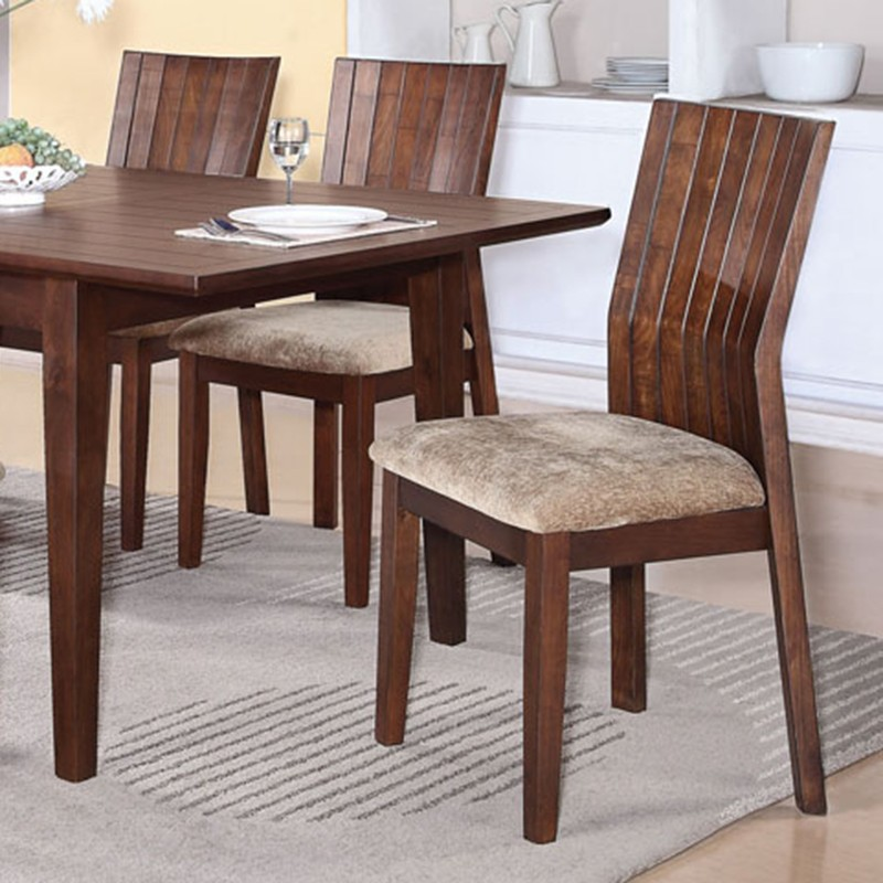 Dark Wood Finish Modern Dining Room W Optional Items: Mauro Dark Brown Finish Dining Table Set
