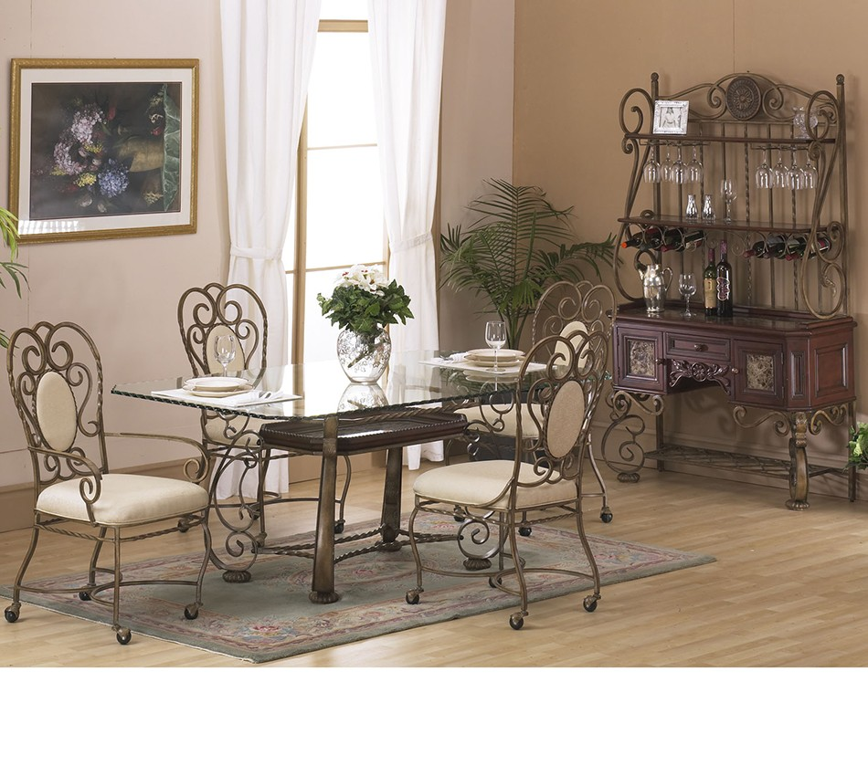 Astoria rectangular dining table with - Broken glass dining table ...