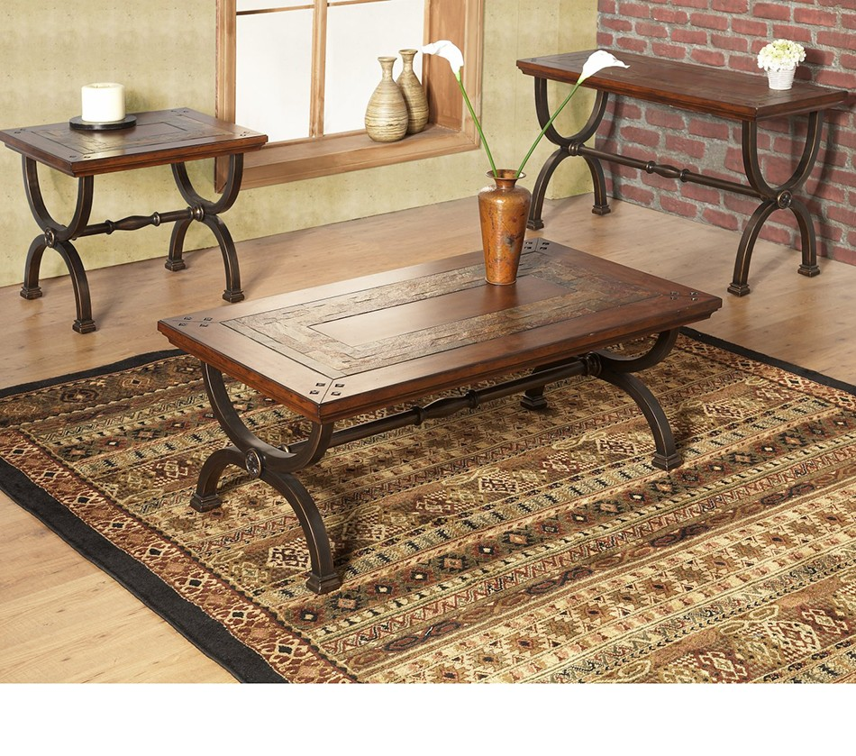 Dreamfurniture milford sofa table with natural slate tiles milford sofa table with natural slate tiles watchthetrailerfo