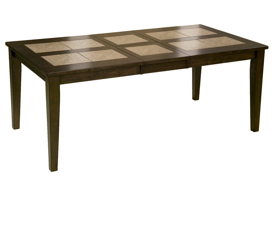 com piedmont tile top dining table with butterfly leaf