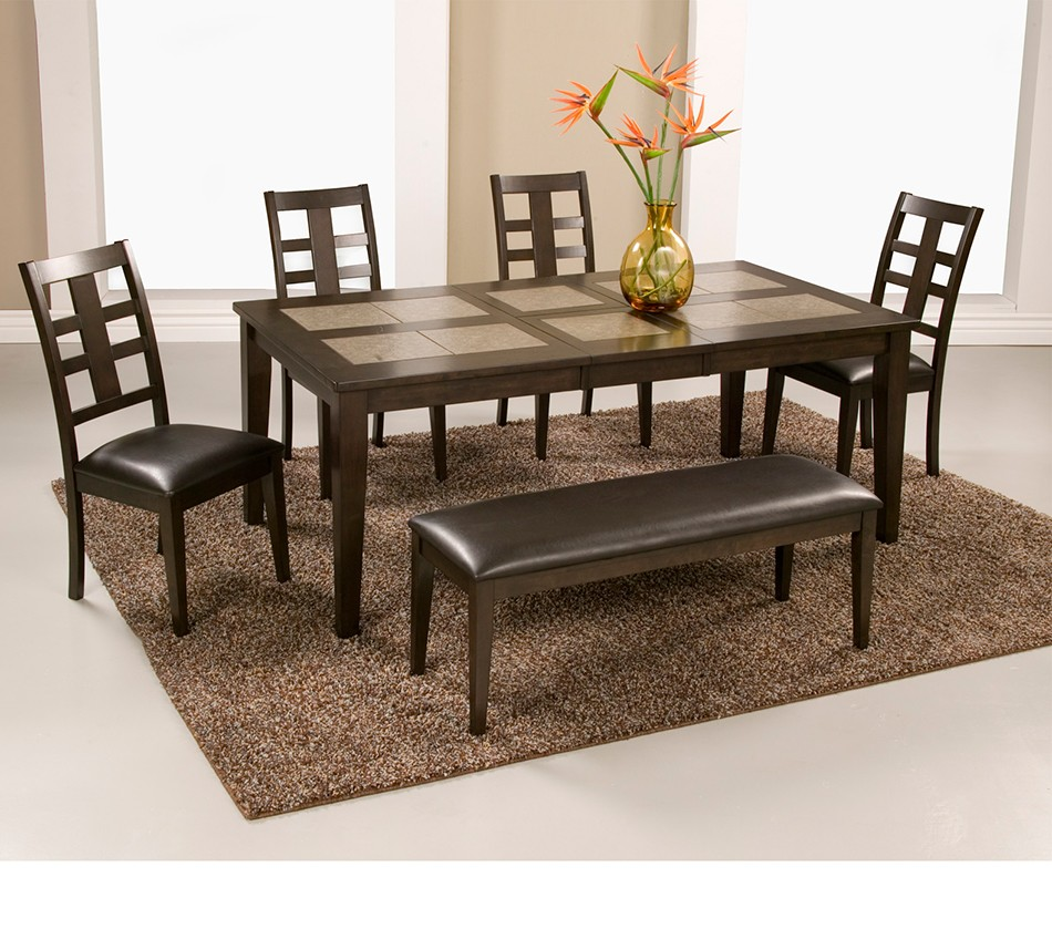 Piedmont Tile Top Dining Table With Butterfly Leaf