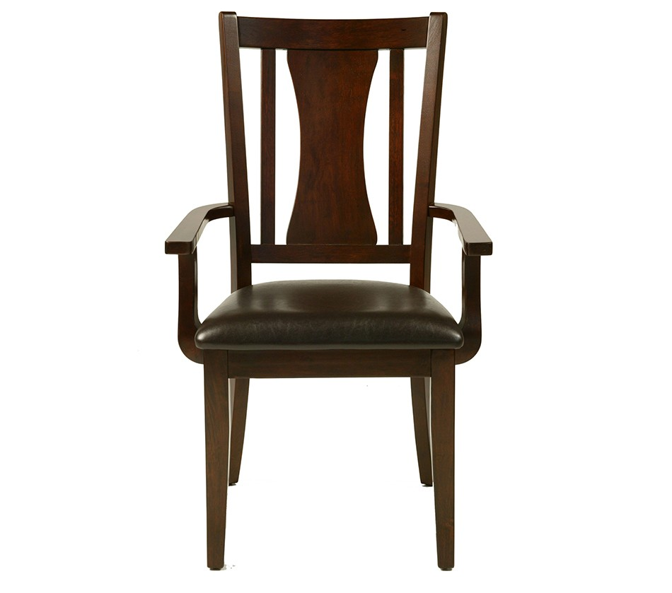 Bradbury Arm Chair With Faux Leather Cushion Set Of 2