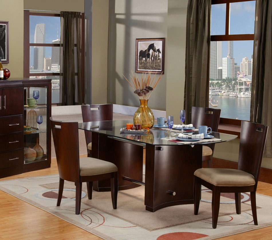 Amazoncom Glass  Tables  Kitchen amp Dining Room