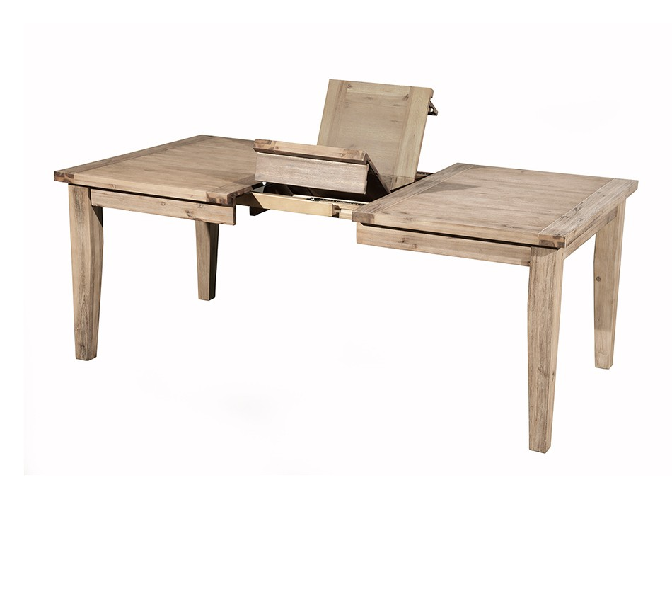Aspen extension dining table with for Extension dining table