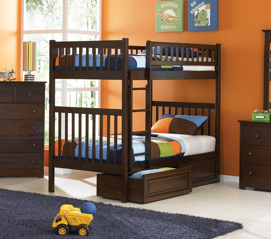 Dreamfurniture Com Arizona Bunk Bed Twin Over Twin In A