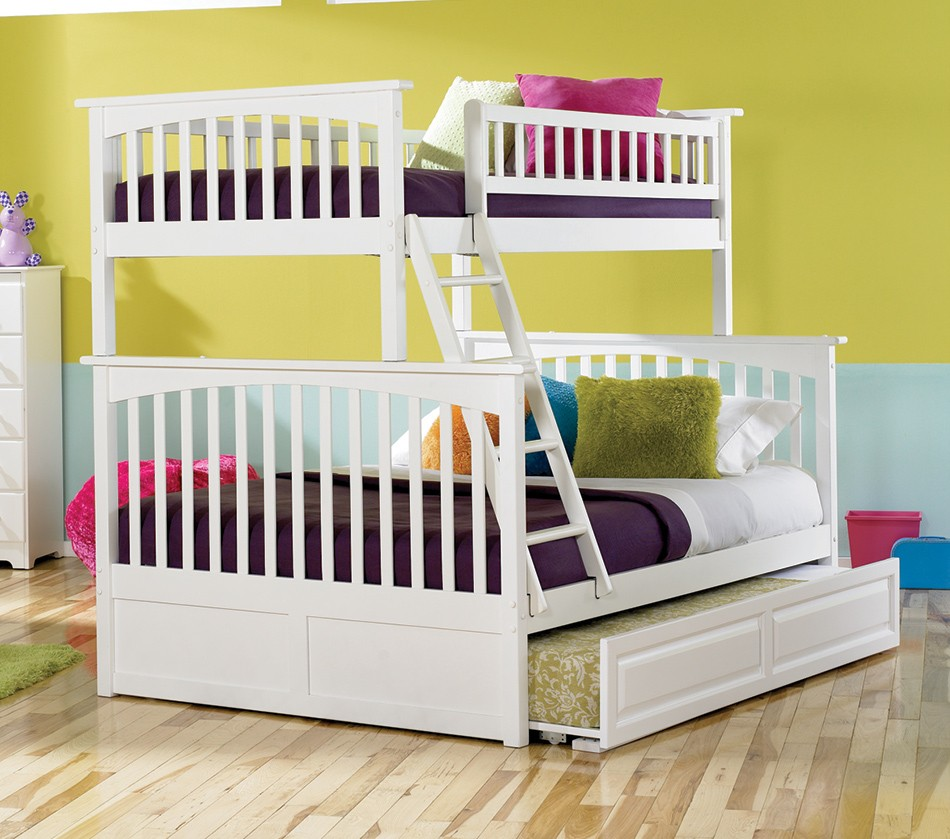 Dreamfurniture Com Columbia Bunk Bed Twin Over Full In