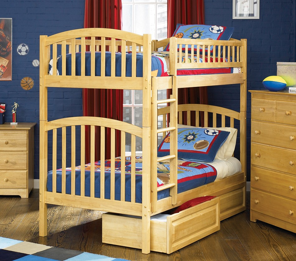 Dreamfurniture Com Richmond Bunk Bed Twin Over Twin In