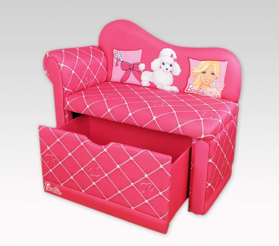 DreamFurniture Barbie Glam Storage Chaise Lounge
